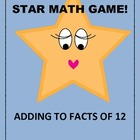 Star Math Game - Adding to 12