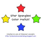 Star Spangled Color Match! {Freebie}