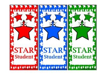 Star Student Bookmark Freebie