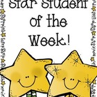 Star Student of the Week (take-home-bag)