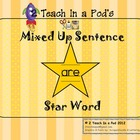 Star Word Are Mixed Up Sentence