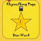 Star Word I Rhyme Star Light Star Bright