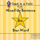 Star Word Like Mixed Up Sentence