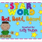 Star Word Roll, Read, and Record
