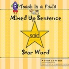 Star Word Said Mixed Up Sentence