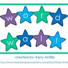 Star Word Wall Words