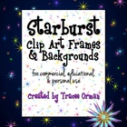 Starburst Backgrounds and Frames Clip Art Commercial Use