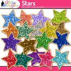 Stars Dipped in Glitter Clipart - Pack 1 Perfect for Presi