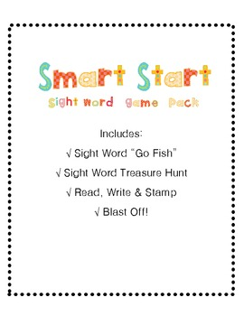 Start Smart Sight Word Game Pack - 4 Games