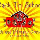Starting Back to School Math and Literacy Centers