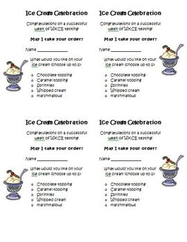 FREE Common Core End of Test or Exam Ice Cream Party Activity