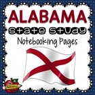 State Study - Alabama State Study Notebooking Pages