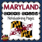 State Study - Maryland State Study Notebooking Pages