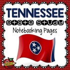 State Study - Tennessee Island State Study Notebooking Pages