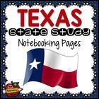 State Study - Texas State Study Notebooking Pages