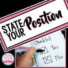 State Your Position - Intro to Persuasion Activity