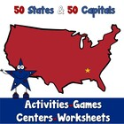 States and Capitals - Activities