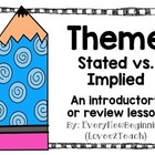Stated vs. Implied Theme PPT Activity