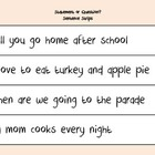Statement or Question? Punctuation Sentence Strips