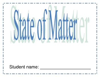 States Matter Unit for Primary grades