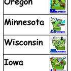 States Word Cards with Pictures