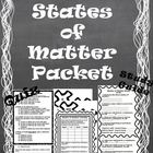 States of Matter Packet *Quiz, Activity, &amp; Study Guide*