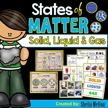 States of Matter (Solids, Liquids, Gas) Sorting, printables, activities pack