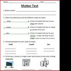 States of Matter Tests and Study Guide