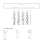 States of Matter Word Search Puzzle with key