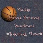 Station Rotations SmartBoard - Basketball Theme - Centers 