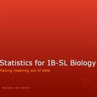 Statistics for Biology Unit (calculating and graphing data