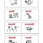Stem-changing verbs (past tense) flashcards
