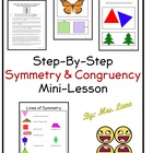 Step-By-Step Symmetry & Congruency Practice/Lesson (For El