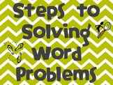 Steps to Solving Word Problems-Chevron Pattern