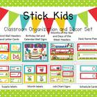 Stick Kids &amp; Polka Dots Classroom Organization and Decor Set