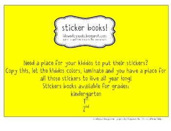 Sticker Books! - 2nd Grade