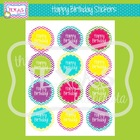 Stickers - Chevron Happy Birthday