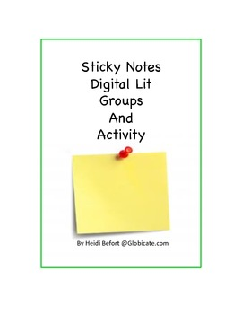 Sticky Notes Digital Literature Groups and Project