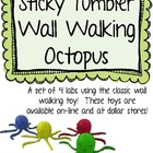 Sticky Tumbler Wall Walker Octopus Science Labs, Set of 4!  FREE!