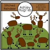Stitched Reindeer {Graphics for Commercial Use}