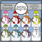 Stitched Snowmen{Graphics for Commercial Use}