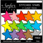 Stitched Stars {Graphics for Commercial Use}