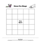 Stone Fox Bingo Reading Comprehension Vocabulary Game
