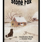 Stone Fox:  Vocabulary Study