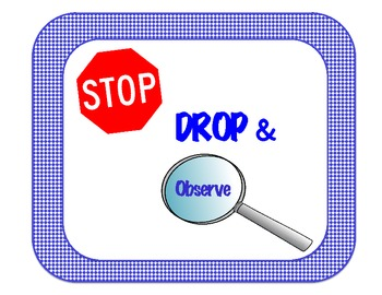 Stop, Drop and Observe!