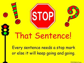 Stop That Sentence Punctuation Game