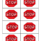 Stop What You are Doing Classroom Management Cards