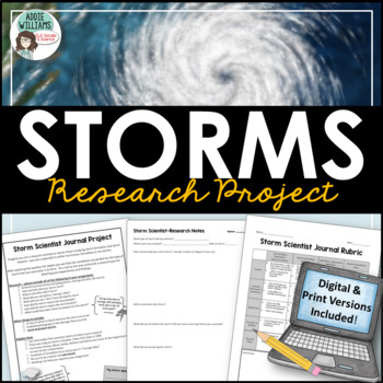 Storm Scientist Research Journal - Climate / Storm / Weather Unit
