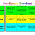 Story Elements Choice Board