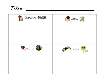Story Elements Four Part Chart
